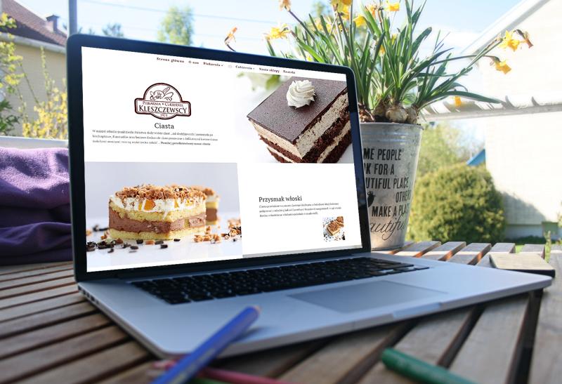 Portfolio strony nternetowej: Piekarnia-Cukiernia Kleszczewscy